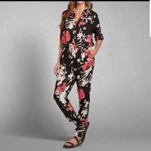 Abercrombie and Fitch Floral jumpsuit